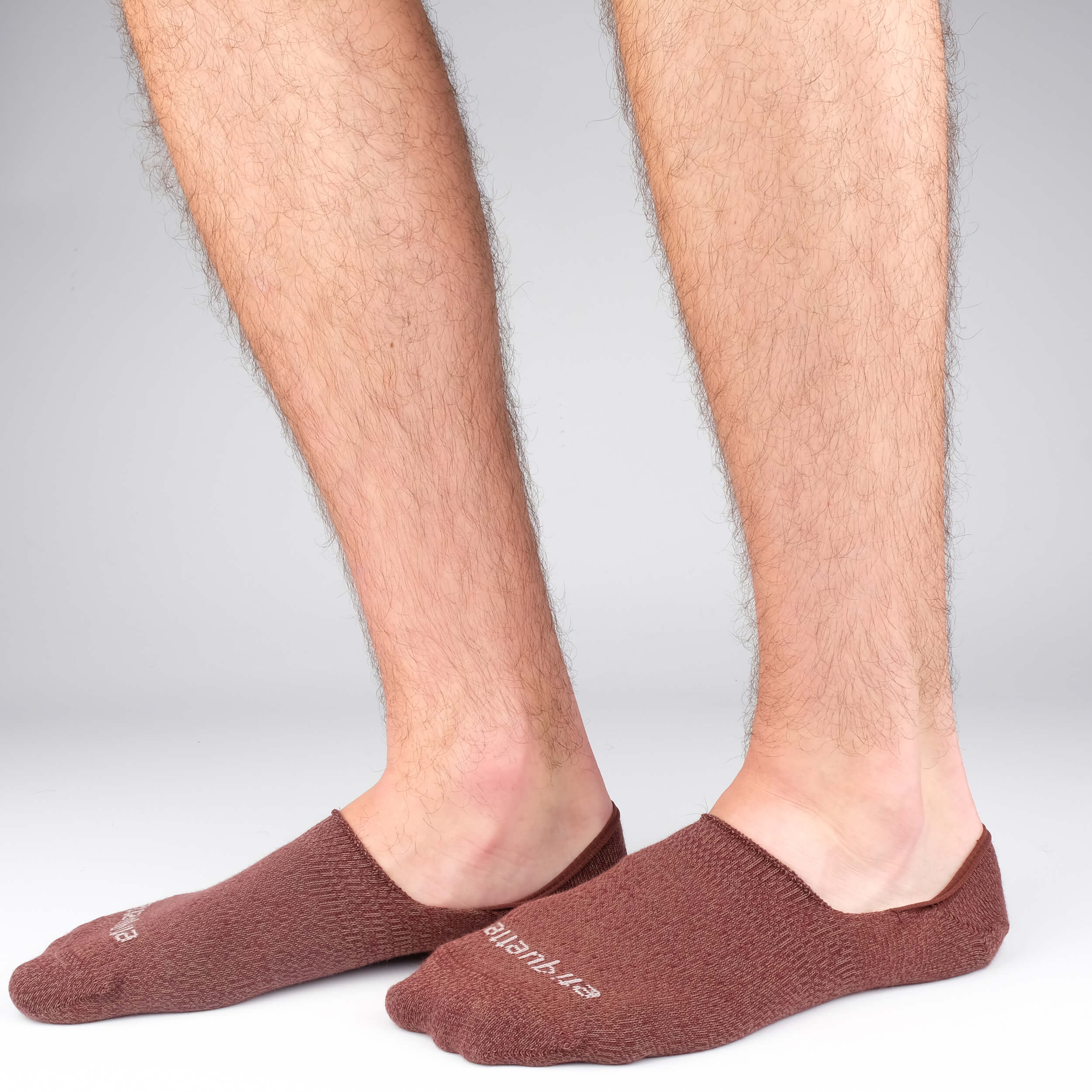 Men's No Show Socks - Mouline Bordeaux