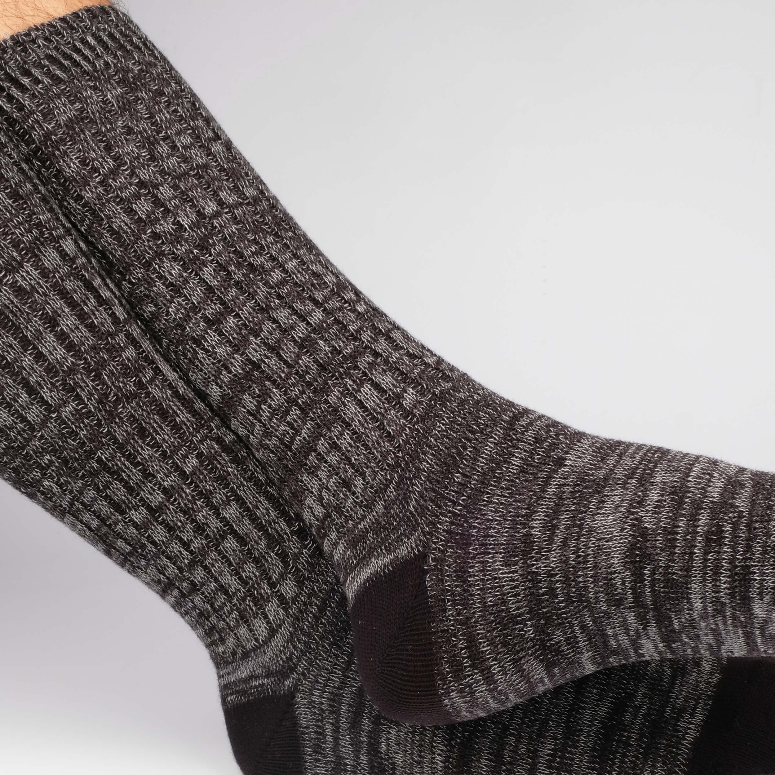 Roppongi Marled Men's Socks - Black Mouline