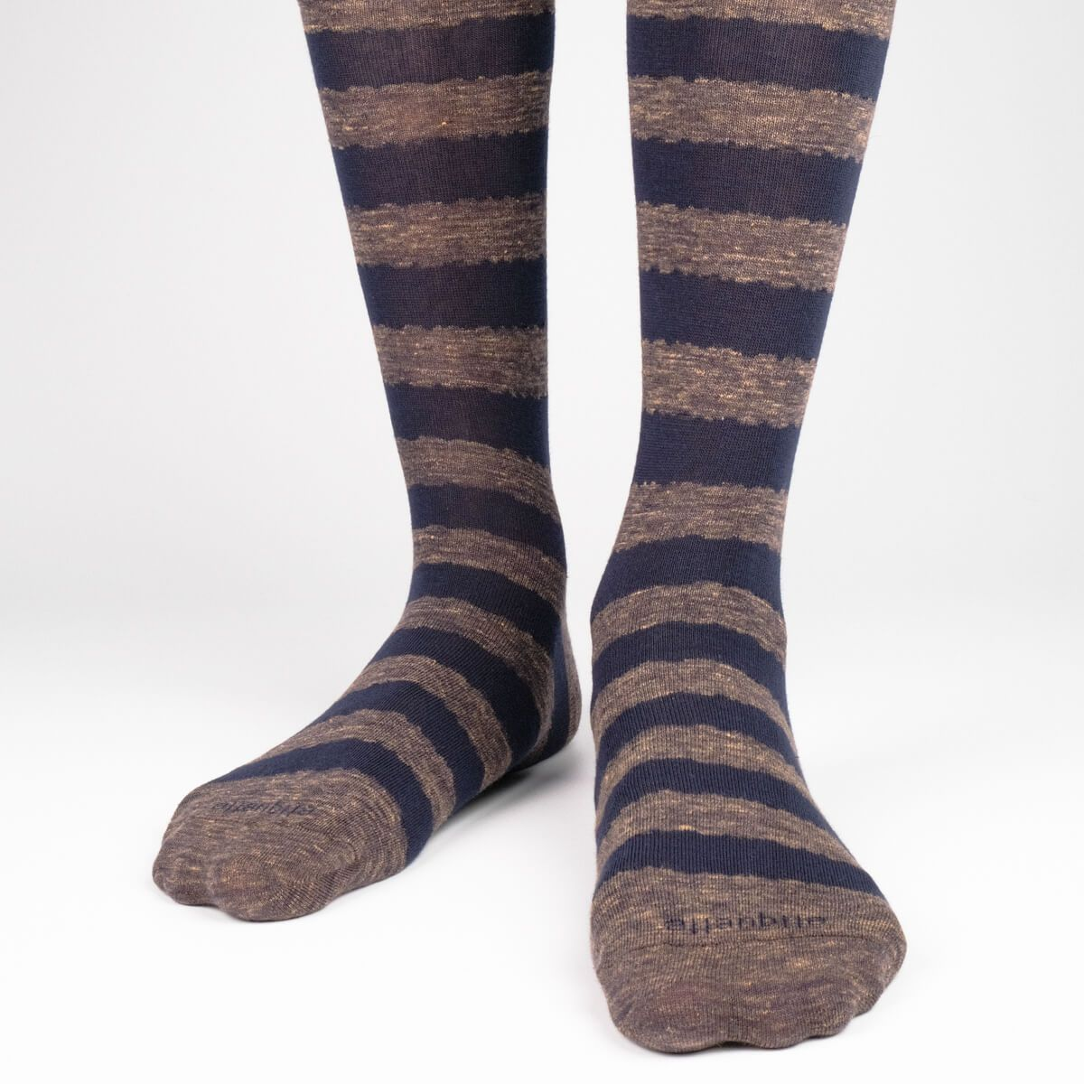 Iona Stripes Slub - Brown - Mens Socks | Etiquette Clothiers Global Official