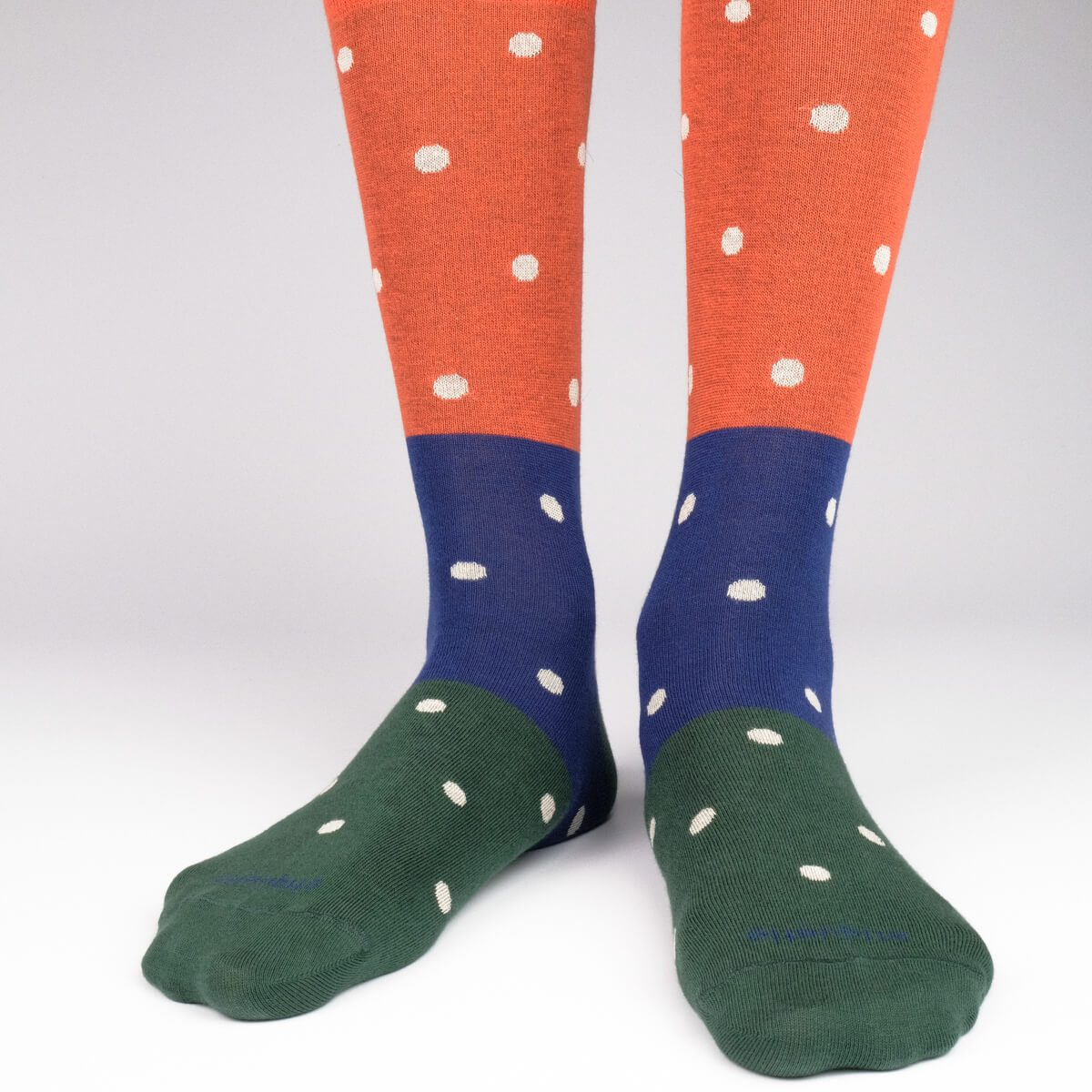 Tri Polka - Orange - Mens Socks | Etiquette Clothiers Global Official