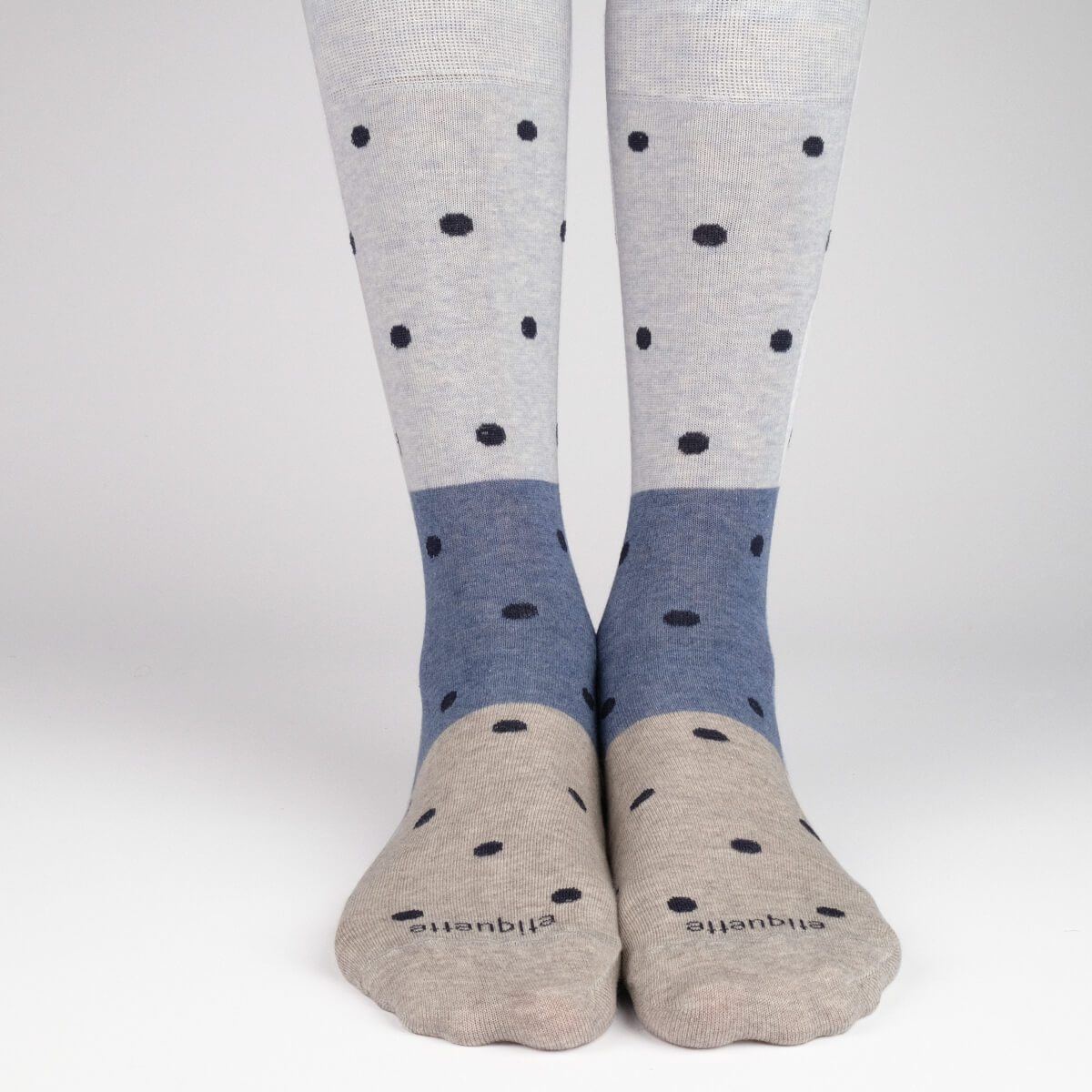 Tri Polka - Blue - Mens Socks | Etiquette Clothiers Global Official