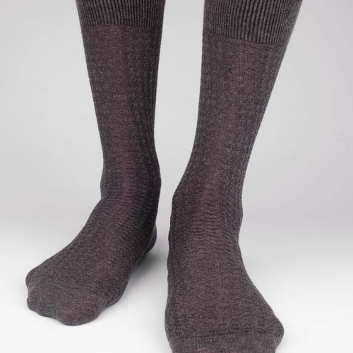 Hounds Waffle Textured Men's Socks  - Alt view