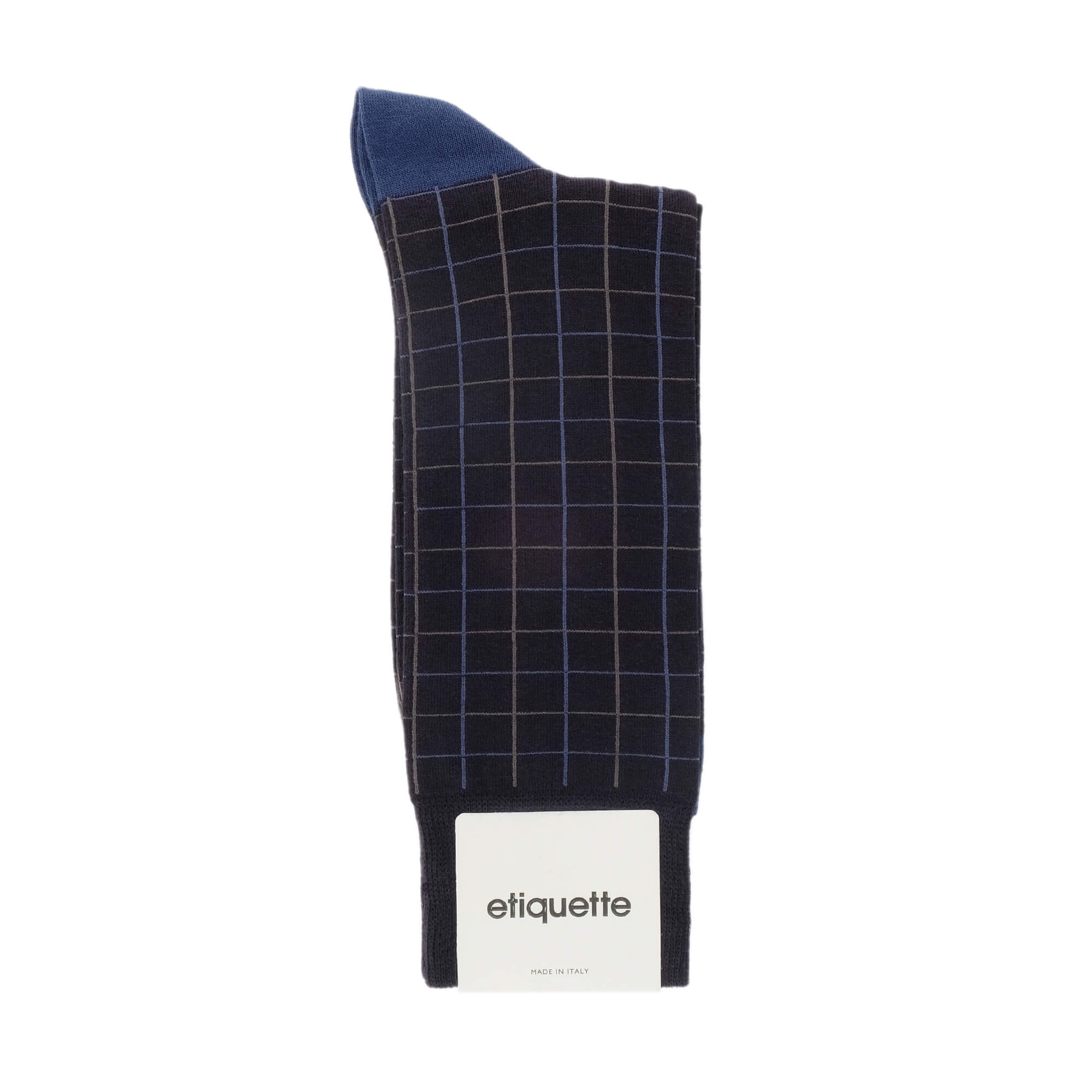Windowpane Men's Socks - Blue