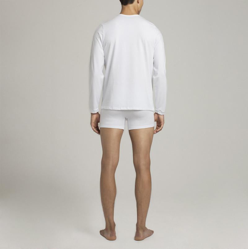 Crosby Henley - White - Mens Underwear | Etiquette Clothiers Global Official