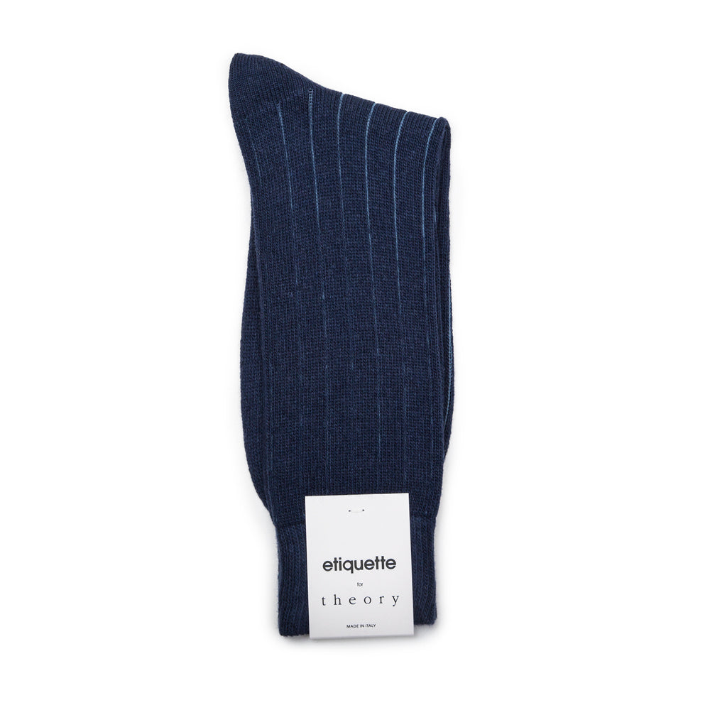 Theory Cashmere Ribbed - Blue