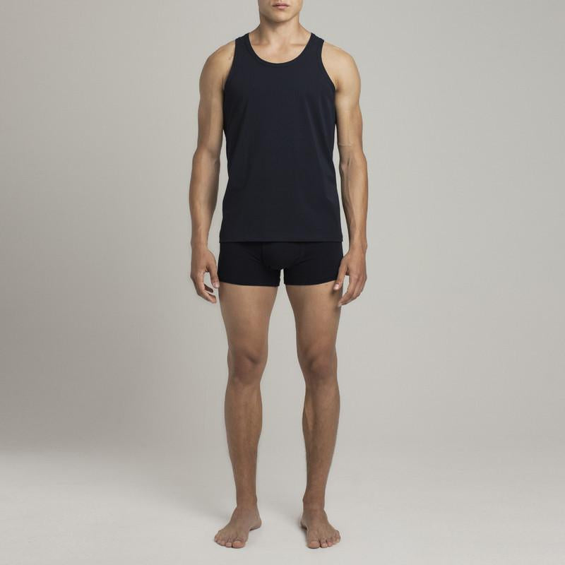 Bowery Tank Top - Dark Blue - Mens Underwear | Etiquette Clothiers Global Official