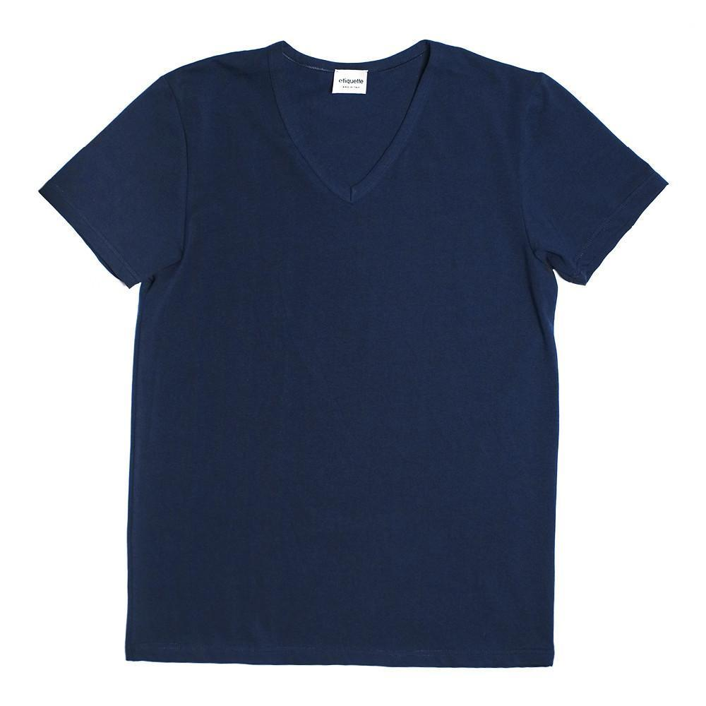 Mulberry V Neck T Shirt - Blue - Mens Underwear | Etiquette Clothiers Global Official