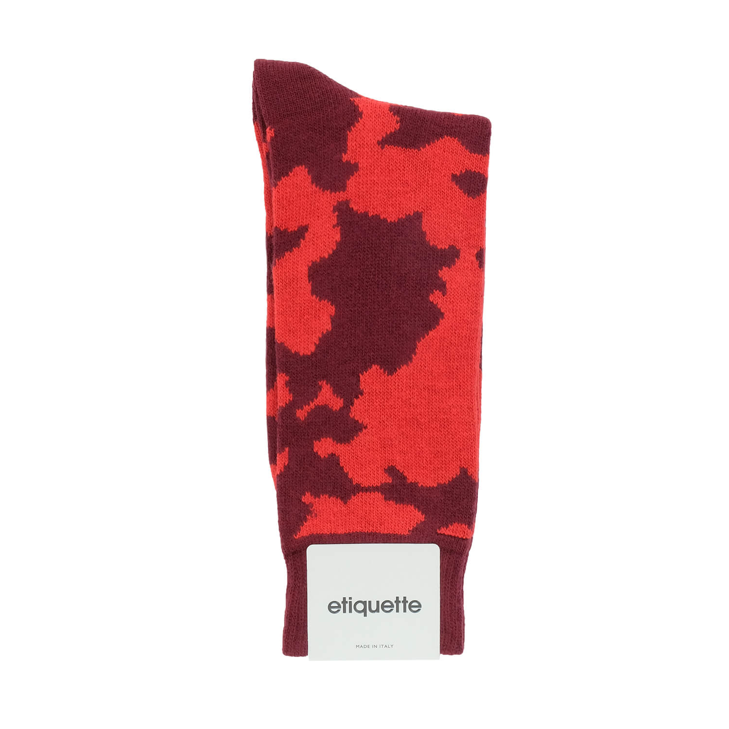 Cashmere Camo - Red - Mens Socks | Etiquette Clothiers Global Official