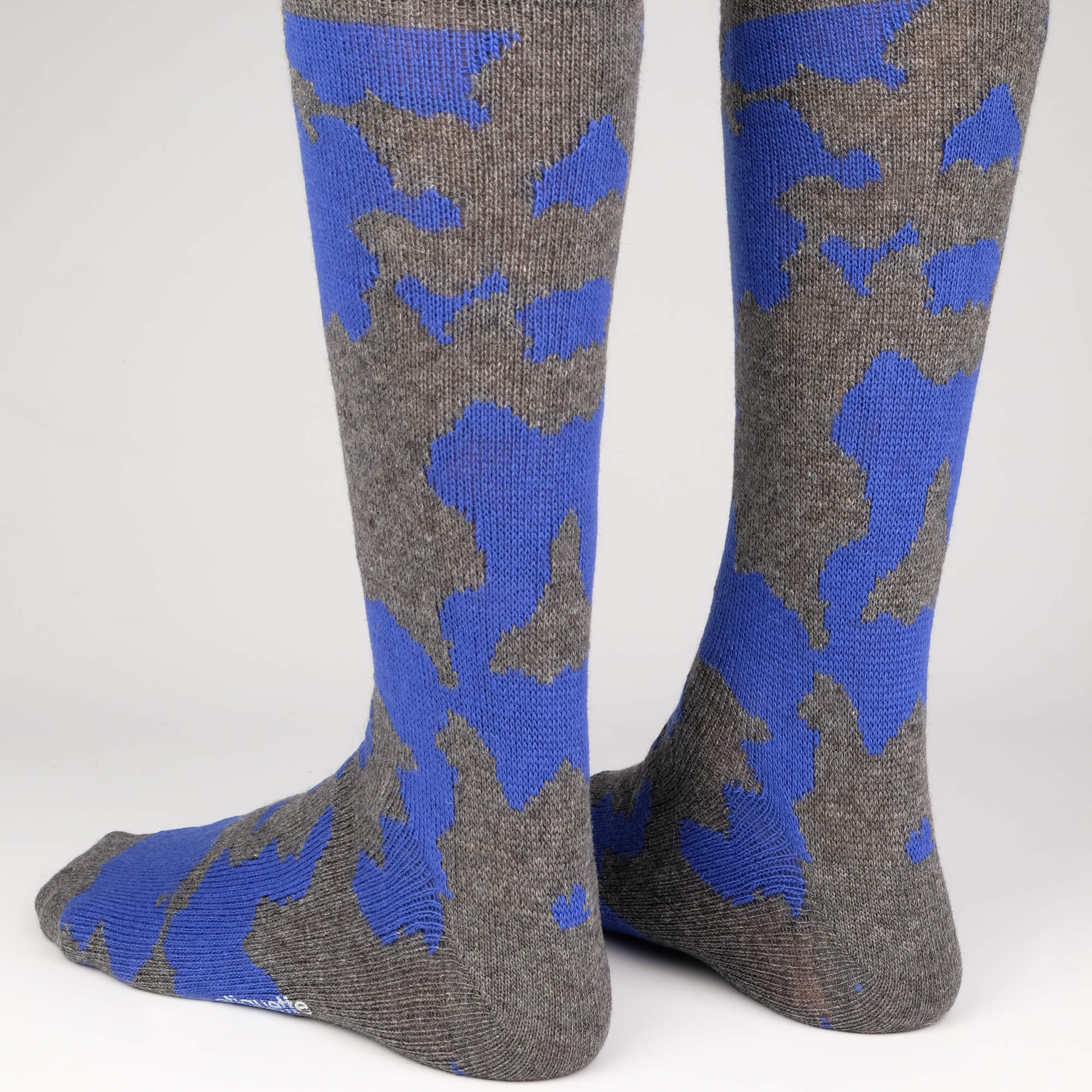 Cashmere Camo - Dark Grey - Mens Socks | Etiquette Clothiers Global Official