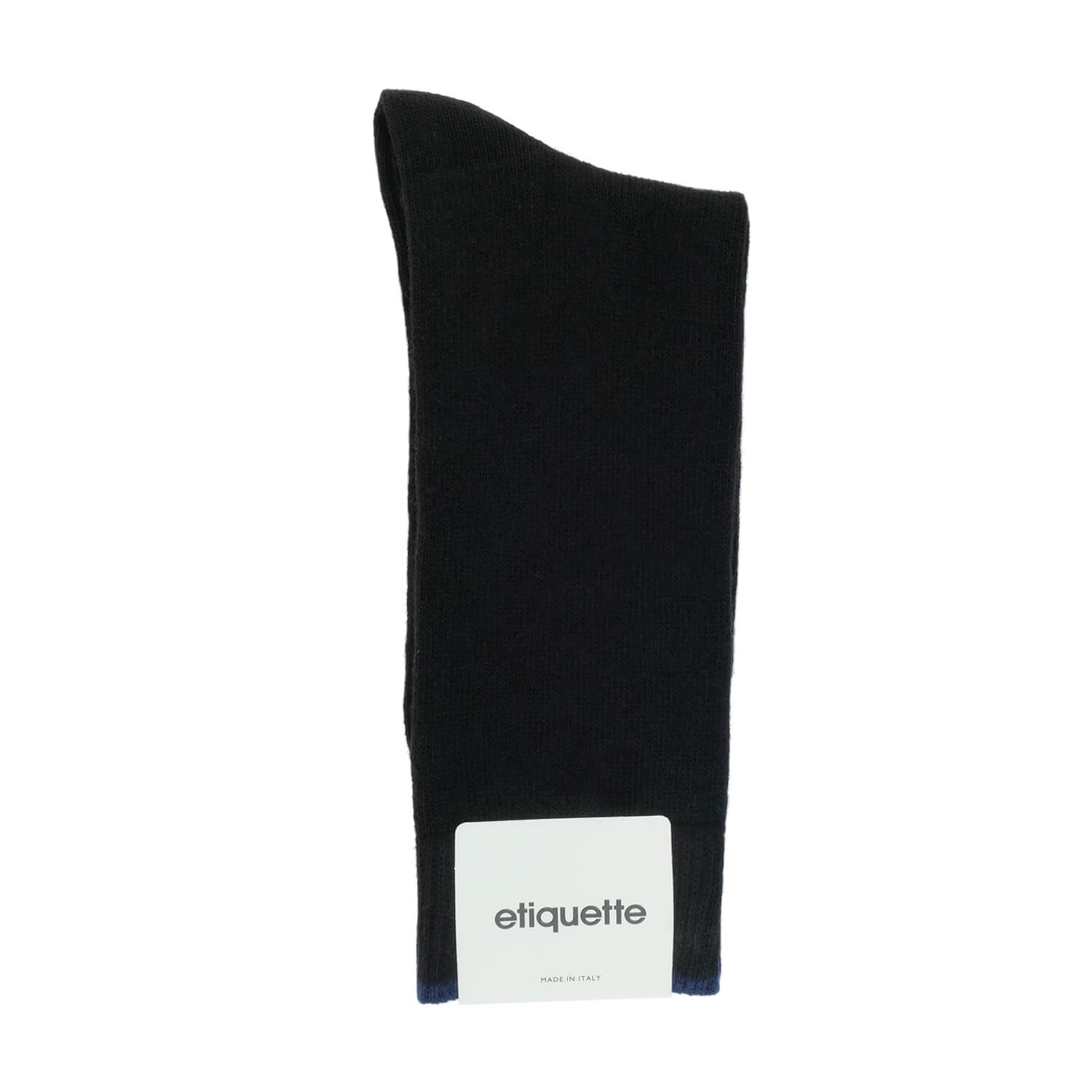 Cashmere Flat Knit - Black - Mens Socks | Etiquette Clothiers Global Official