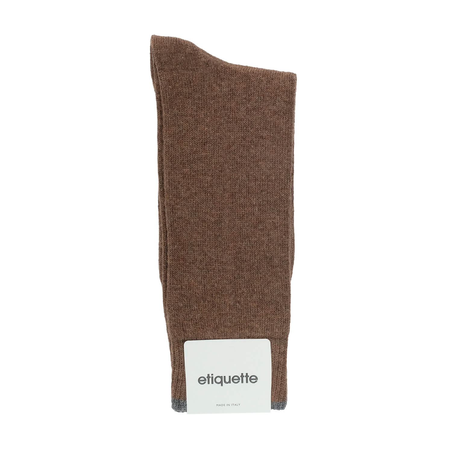 Cashmere Flat Knit - Brown - Mens Socks | Etiquette Clothiers Global Official