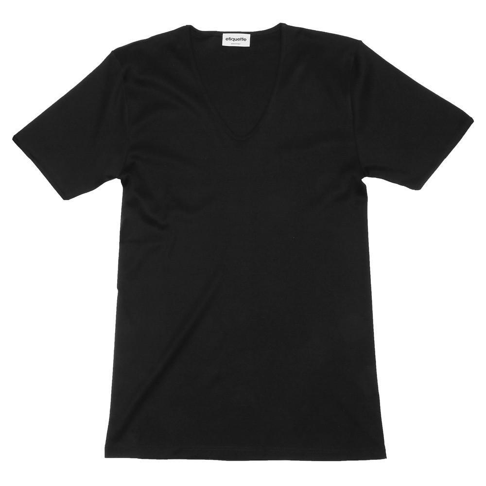 The Fifth V Neck T-Shirt - Black - Image 1