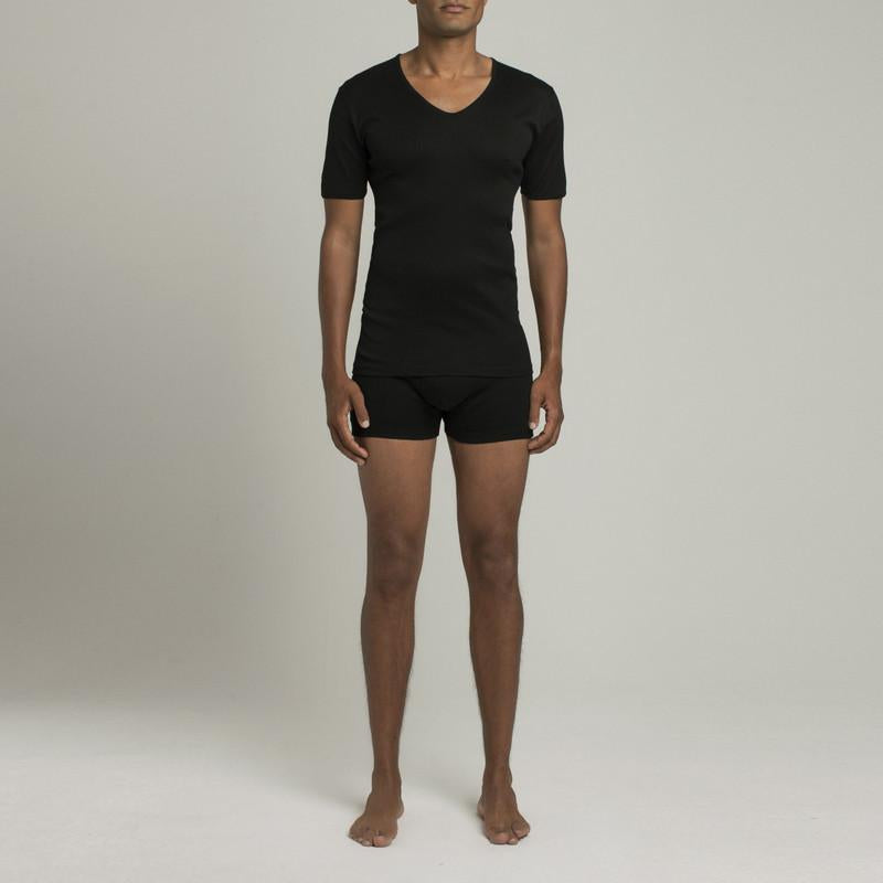 The Fifth V Neck T-Shirt - Black - Image 2