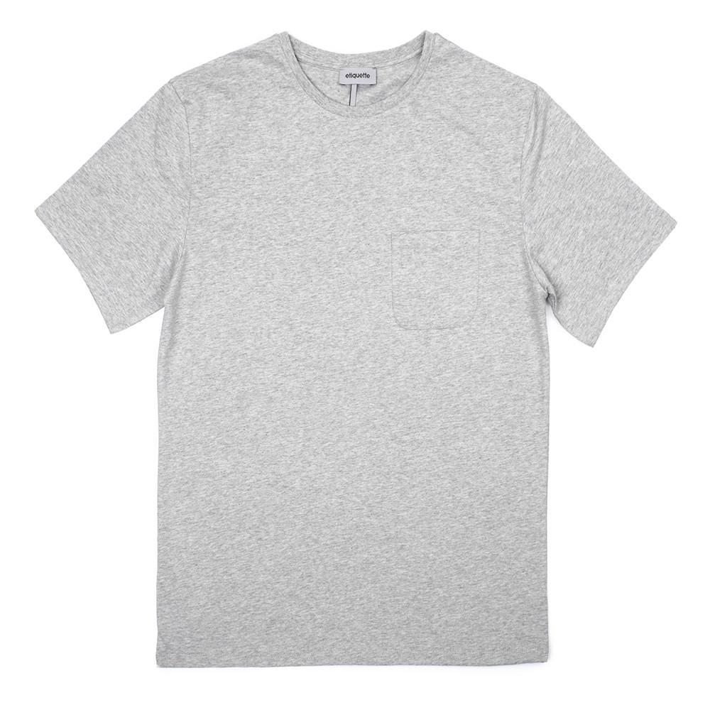 Bedford Pocket Crew Neck T - Grey Melange - Loungewear - Etiquette - global.etiquetteclothiers.com