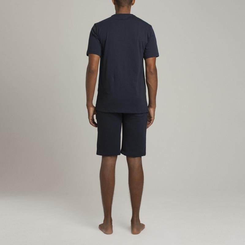 Bedford Pocket Crew Neck T - Navy - Loungewear - Etiquette - global.etiquetteclothiers.com