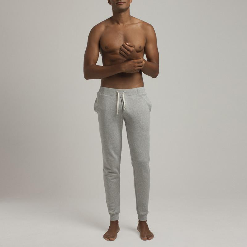 Barrow Loop Terry Sweatpants - Grey Melange - Loungewear - Etiquette - global.etiquetteclothiers.com
