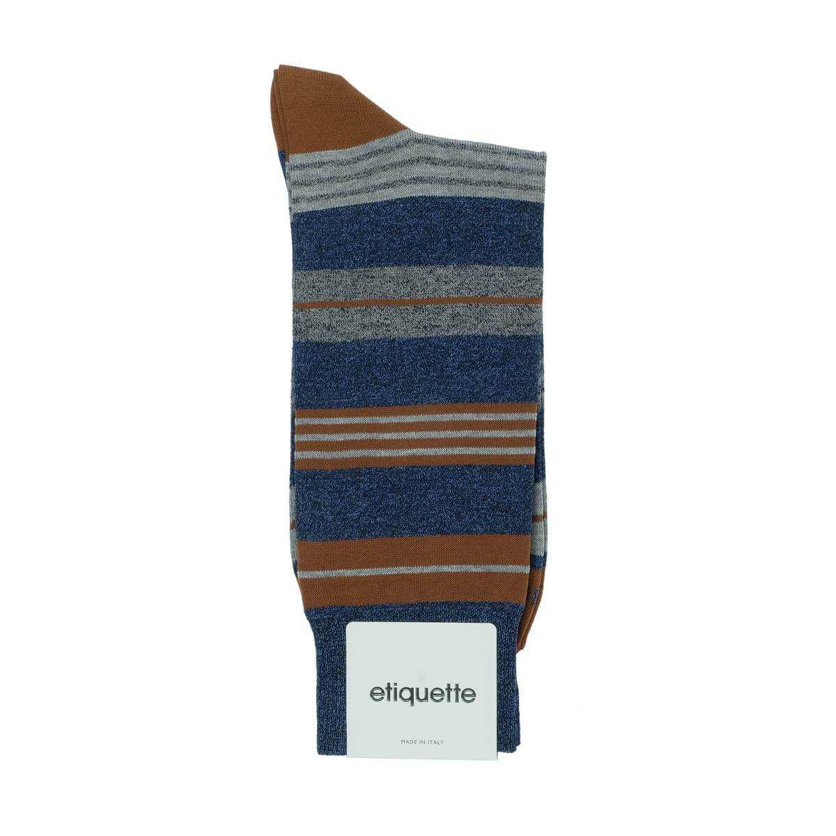 Amsterdam Stripes - Blue - Mens Socks | Etiquette Clothiers Global Official