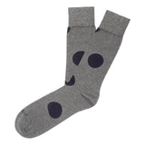 Big Dots - Dark Grey - Mens Socks | Etiquette Clothiers Global Official