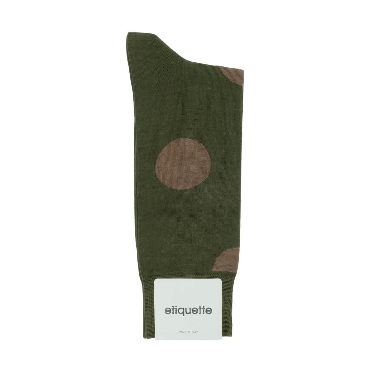 Big Dots - Dark Green - Mens Socks | Etiquette Clothiers Global Official
