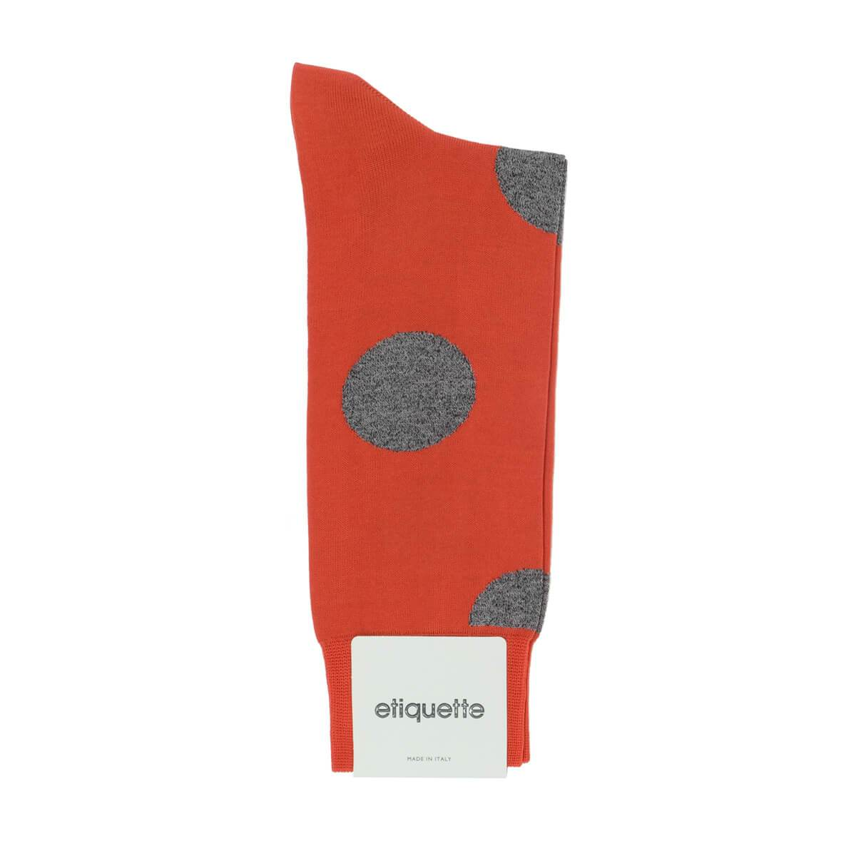 Big Dots - Orange - Mens Socks | Etiquette Clothiers Global Official
