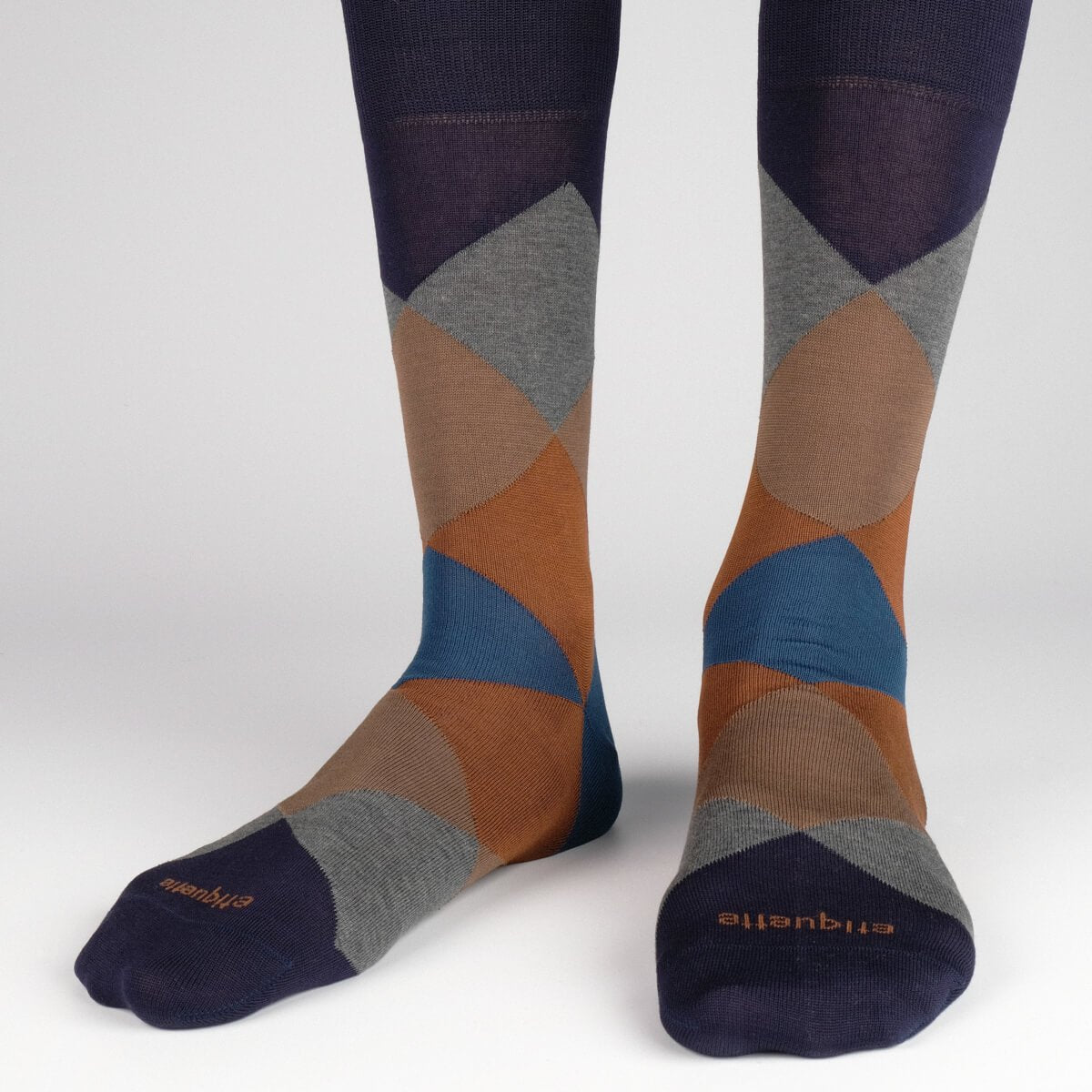 Harlequin - Dark Blue - Mens Socks | Etiquette Clothiers Global Official