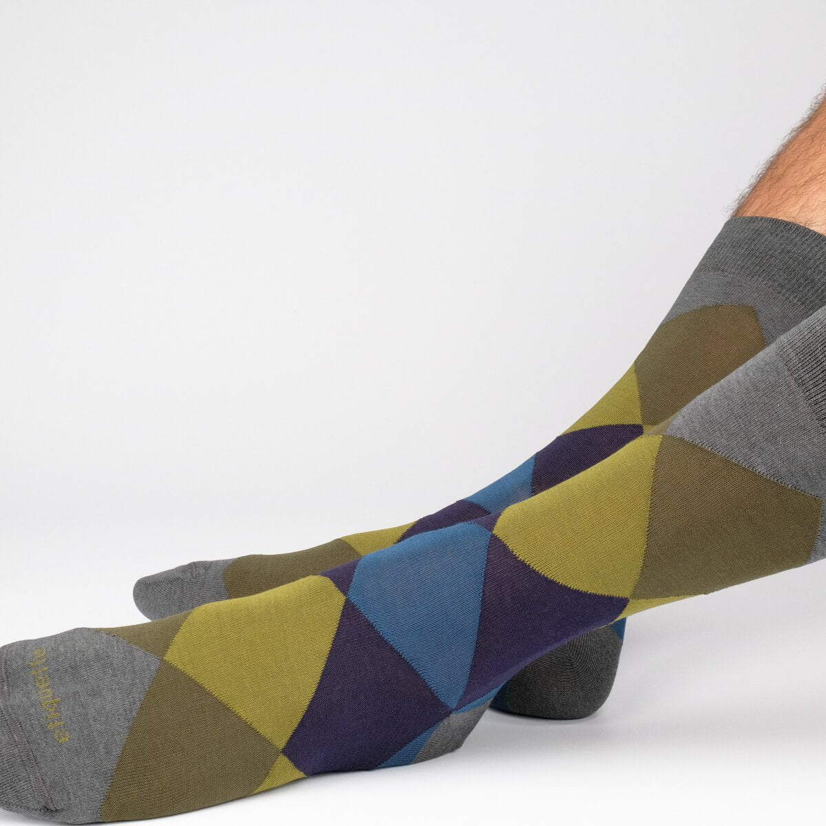 Harlequin - Dark Grey - Mens Socks | Etiquette Clothiers Global Official