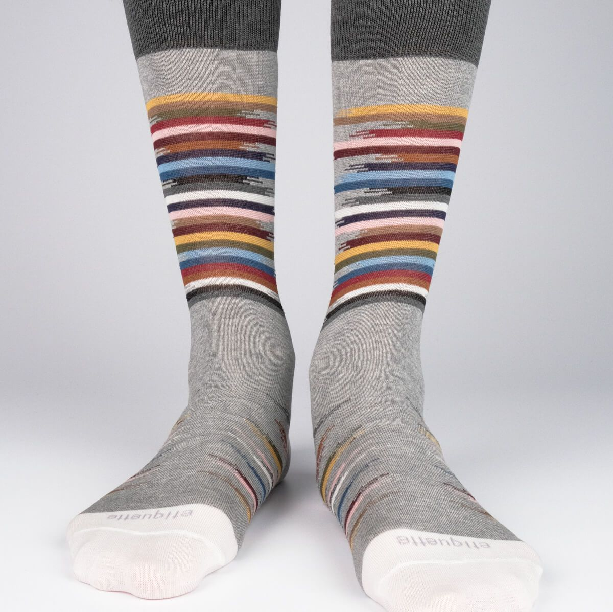 Idyllic - Grey - Mens Socks | Etiquette Clothiers Global Official