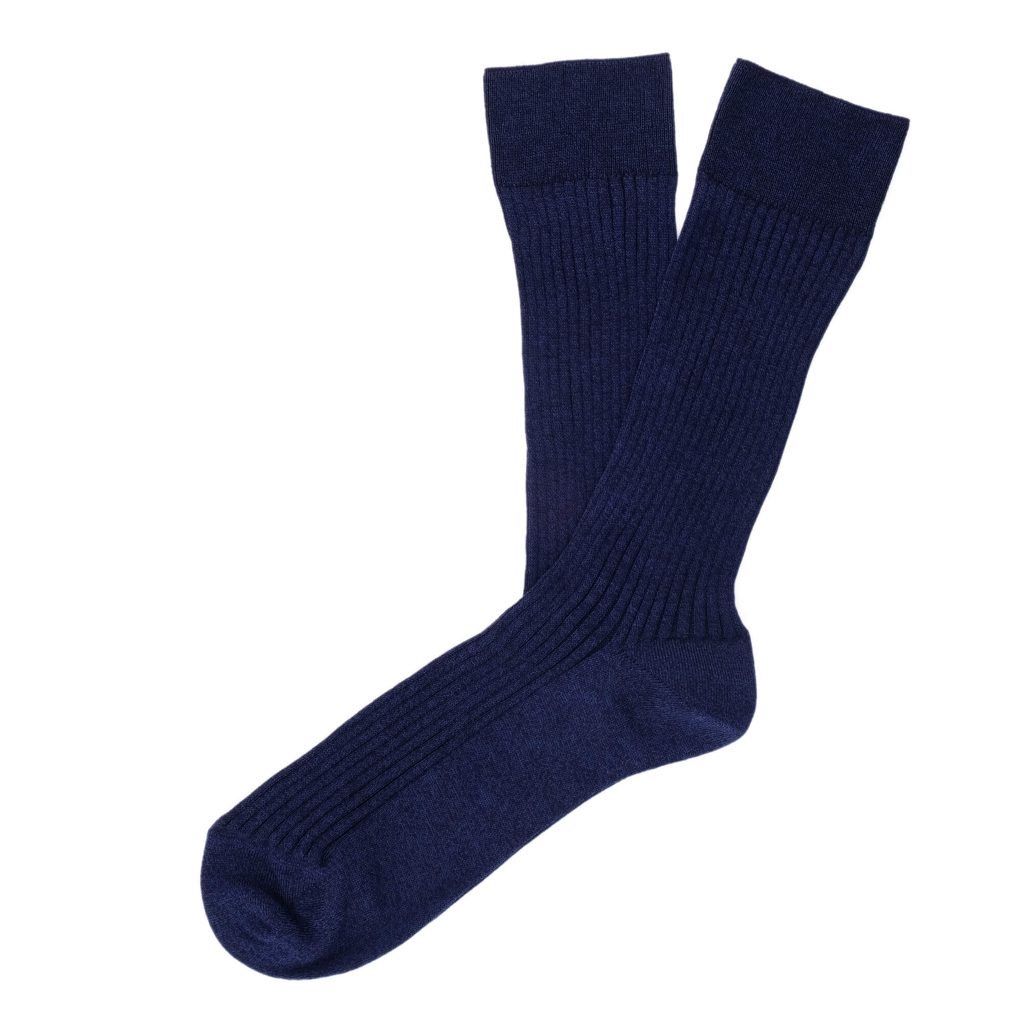 Thousand Ribs Men's Socks - Blue