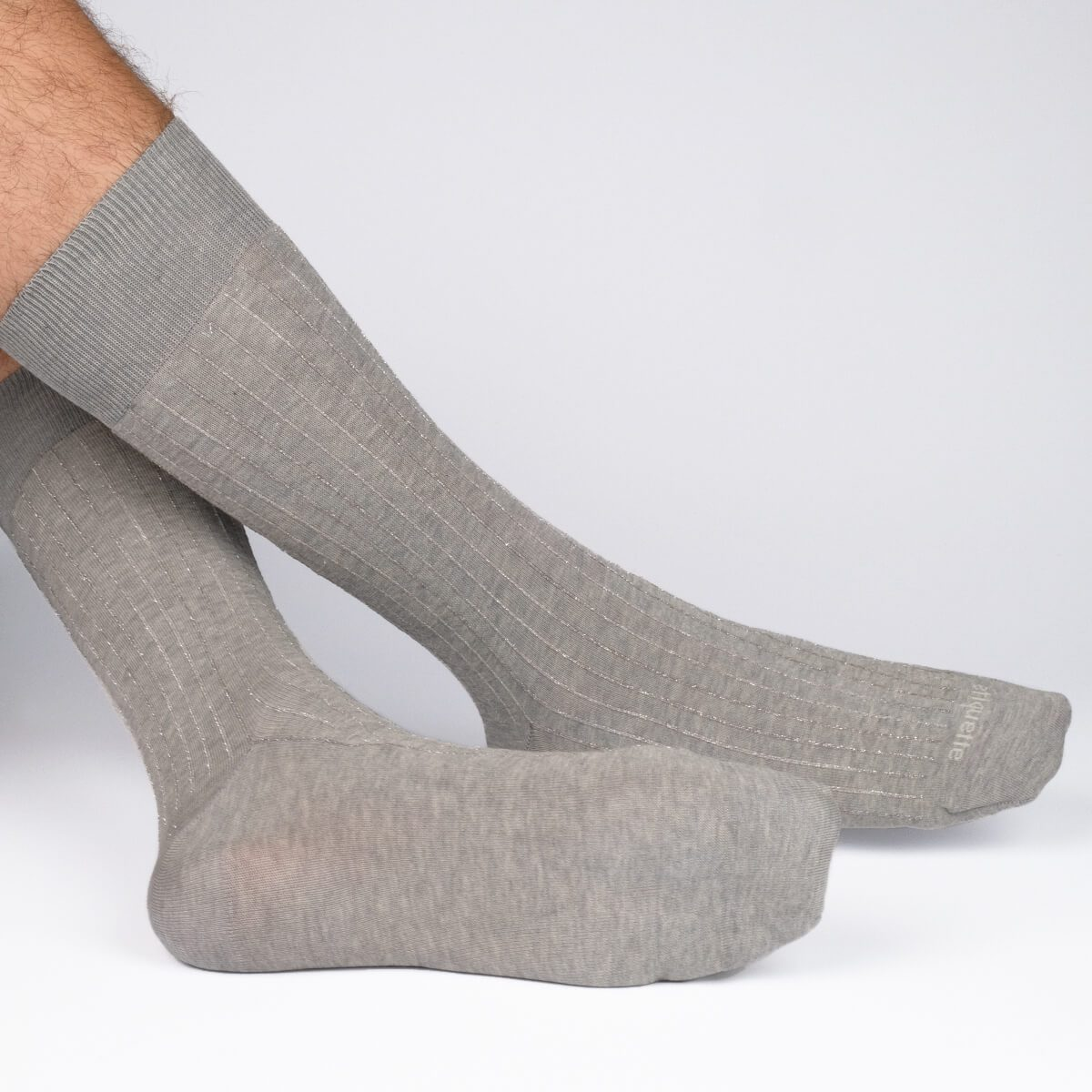 Royal Ribs Metallic - Grey - Mens Socks | Etiquette Clothiers Global Official