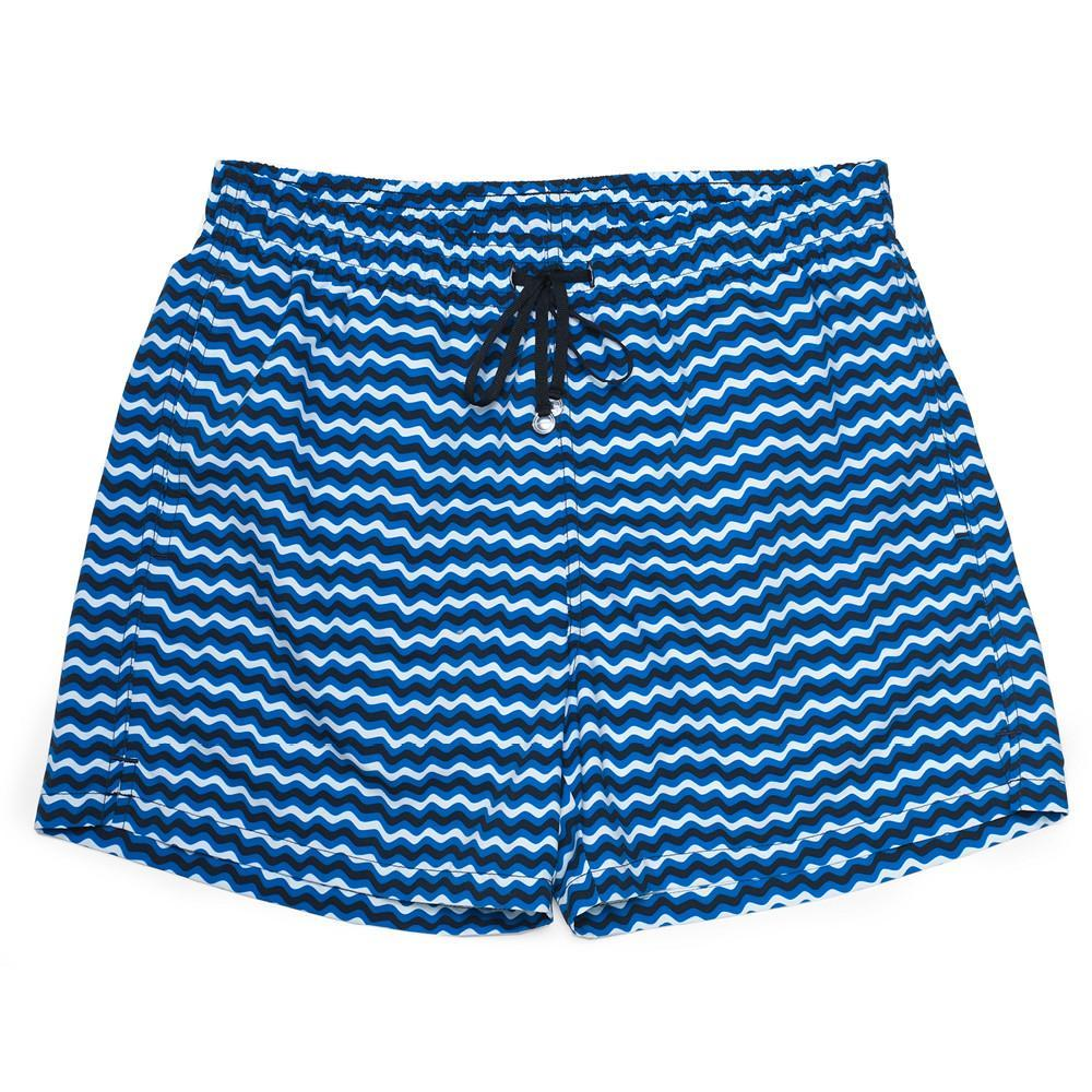 The Corsaro Swim Trunk Wave - Dark Blue - Swimwear - Etiquette - global.etiquetteclothiers.com
