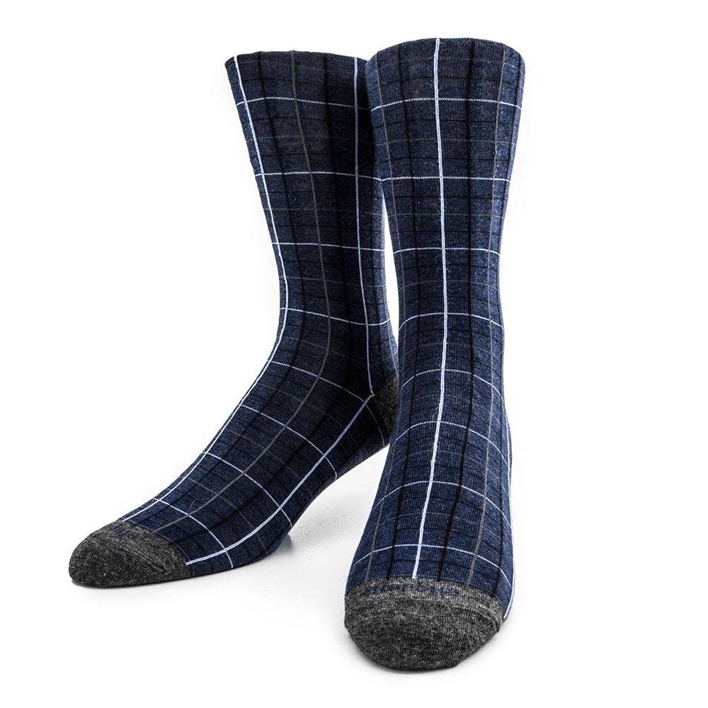 Harbour Windowpane Men's Socks - Blue