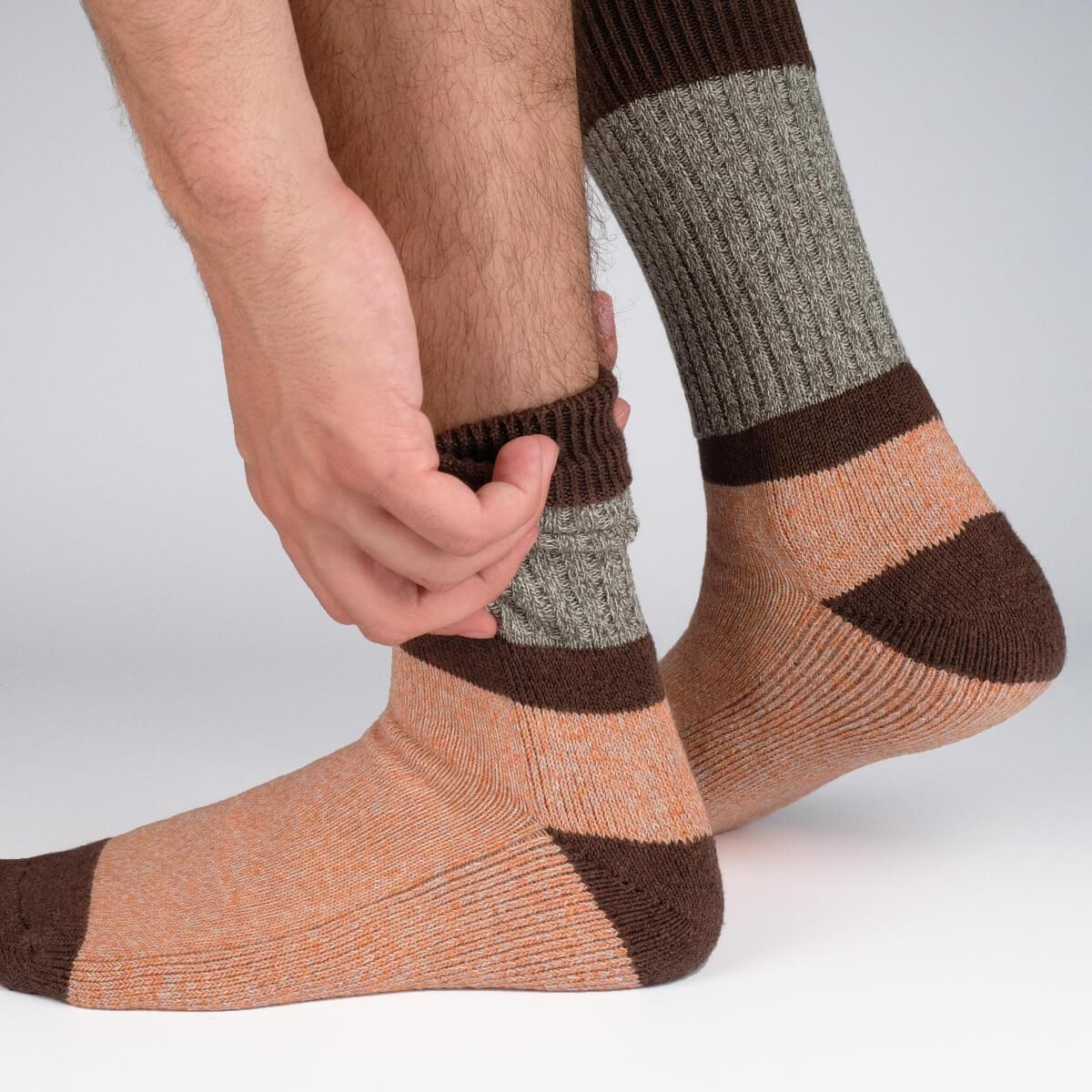 Get The Boot Duo Socks - Orange - Mens Socks | Etiquette Clothiers Global Official