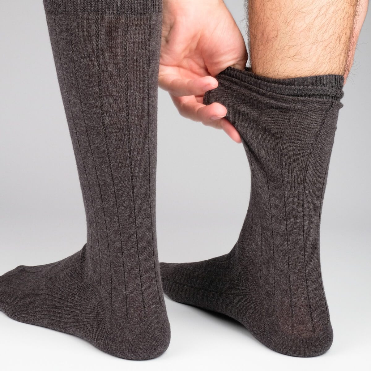 The Classic Rib - Dark Grey - Mens Socks | Etiquette Clothiers Global Official
