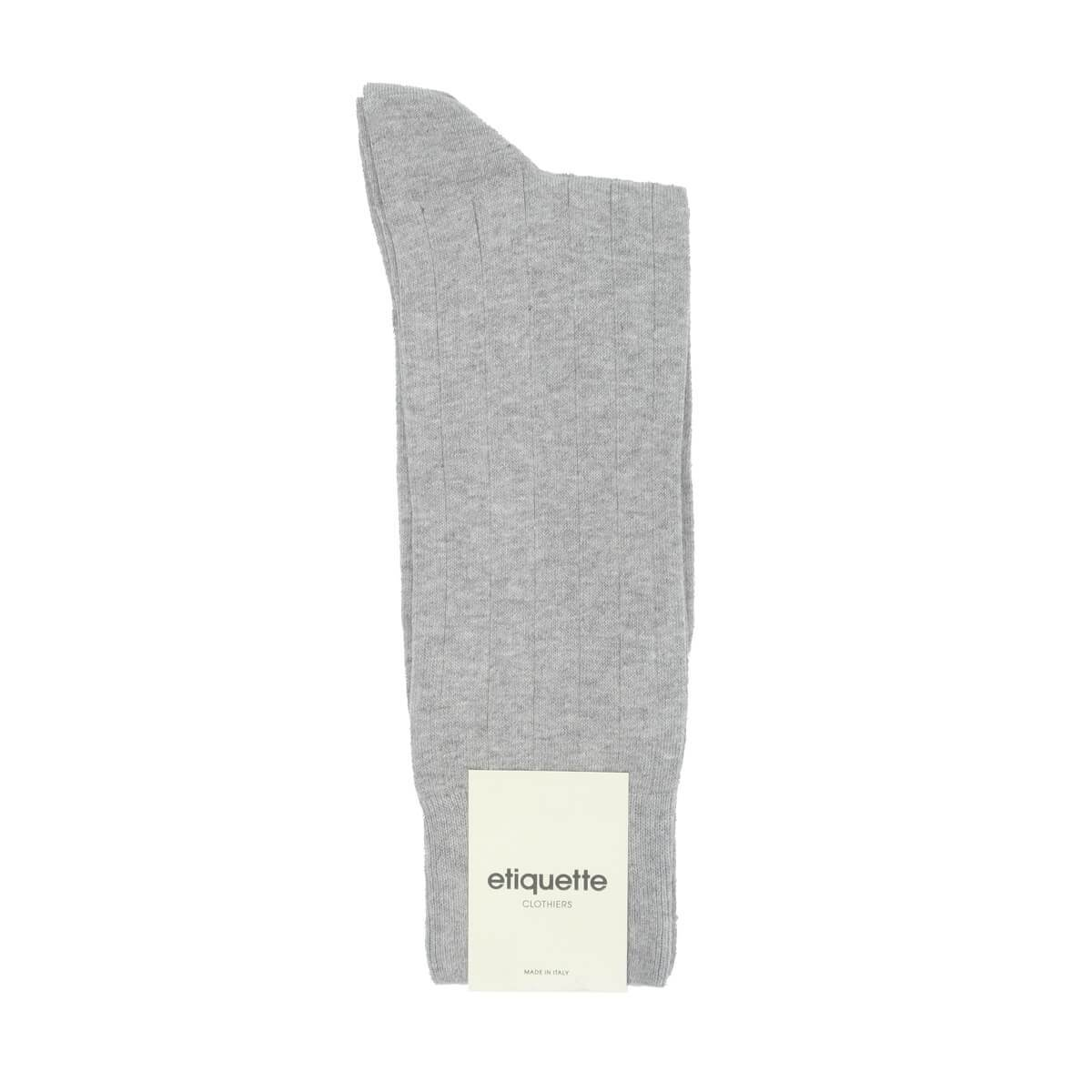 The Classic Rib - Grey - Mens Socks | Etiquette Clothiers Global Official