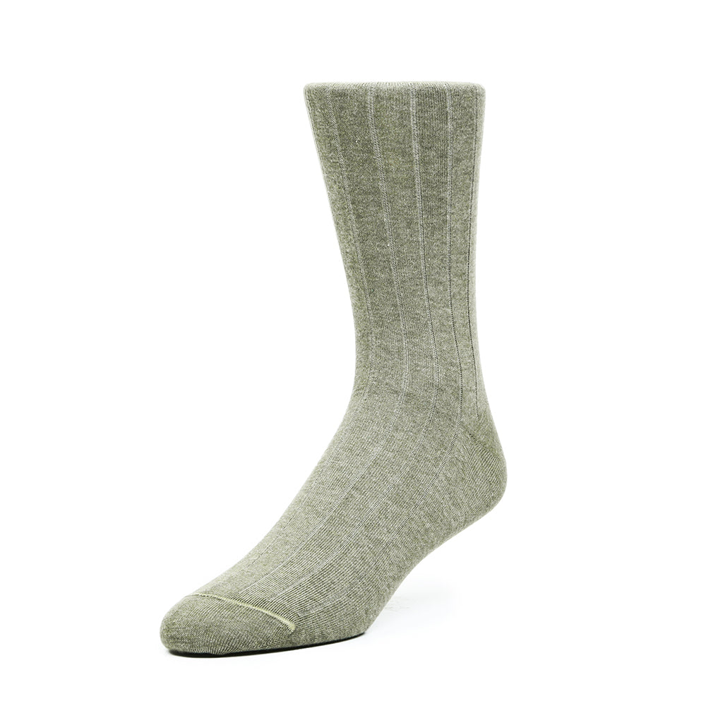 The Classic Rib - Green Melange - Socks - Etiquette - global.etiquetteclothiers.com