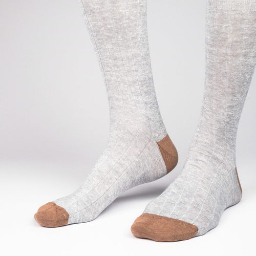Ribbed Linen Men's Socks  - Alt view