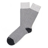 Thousand Stripes - Light Grey - Mens Socks | Etiquette Clothiers Global Official