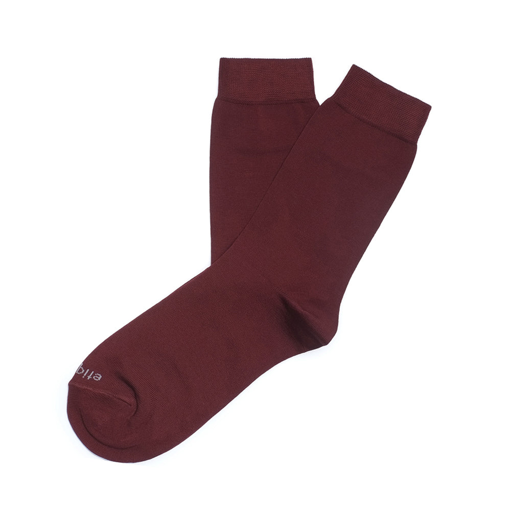 Basic Luxuries - Bordeaux - Womens Socks | Etiquette Clothiers Global Official