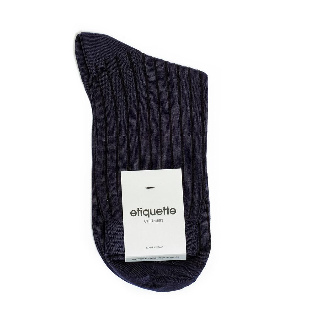Royal Ribs - Dark Blue - Womens Socks | Etiquette Clothiers Global Official