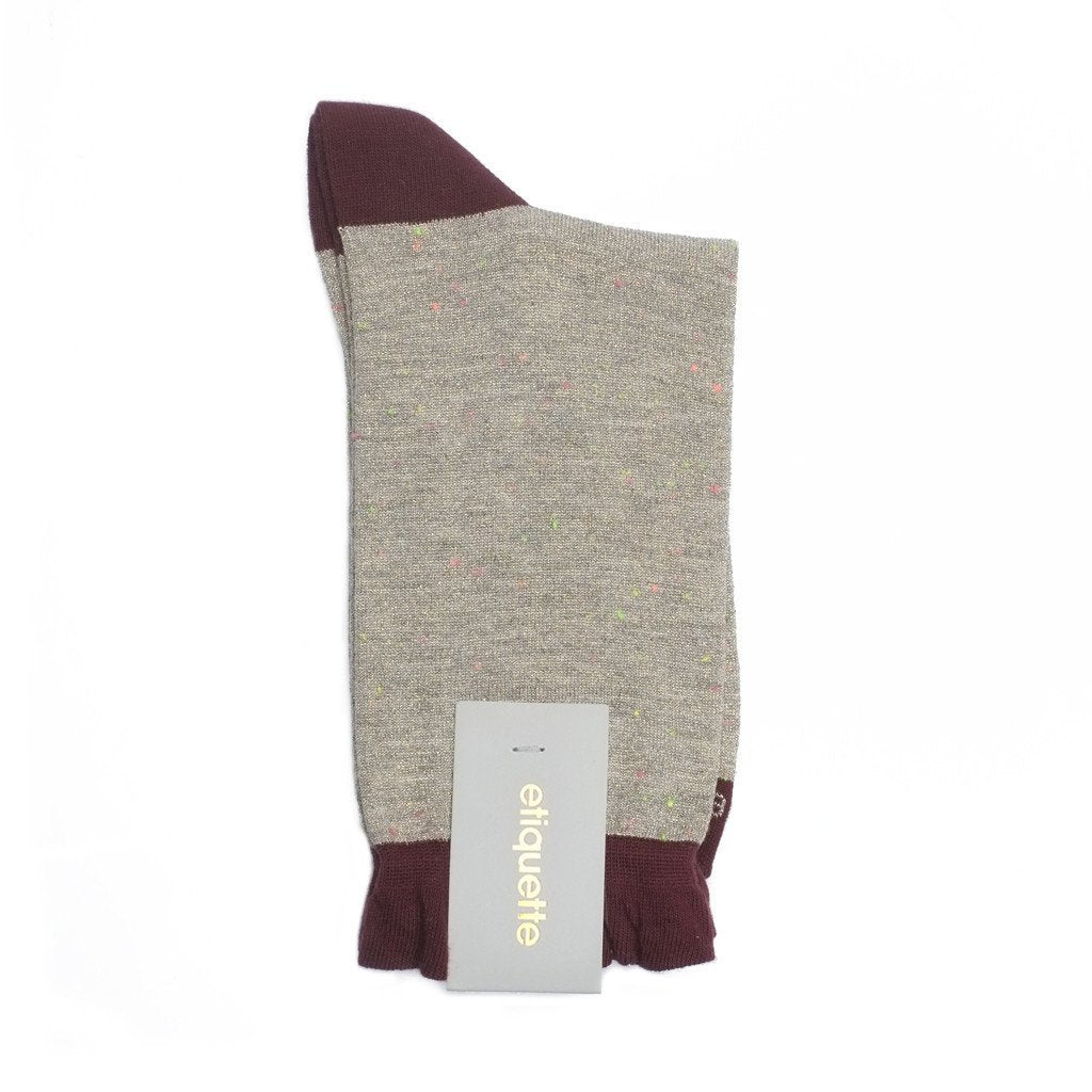 Charming Duo - Gold Metallic - Womens Socks | Etiquette Clothiers Global Official