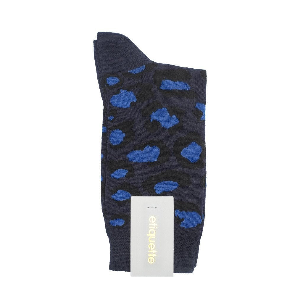 Leo Pop - Dark Blue - Womens Socks | Etiquette Clothiers Global Official