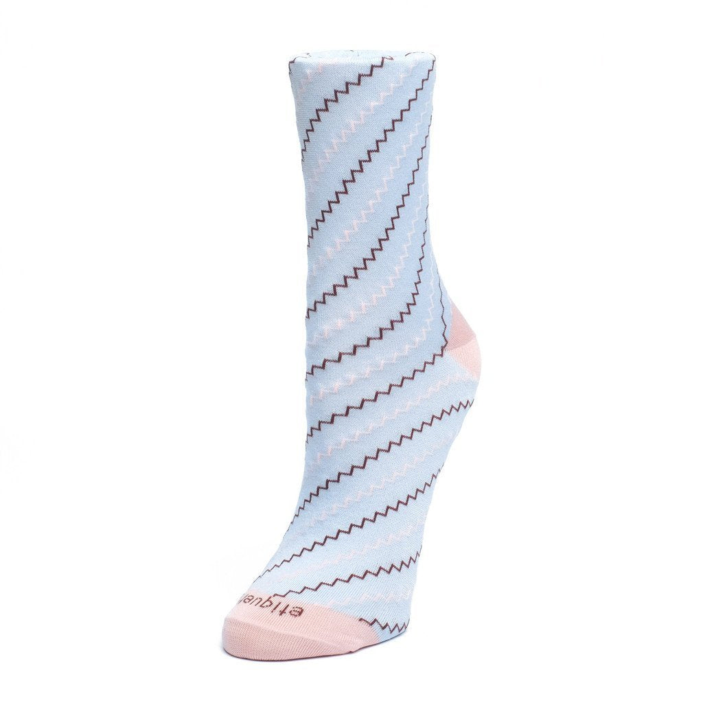 Step It Up - Light Blue - Womens Socks | Etiquette Clothiers Global Official