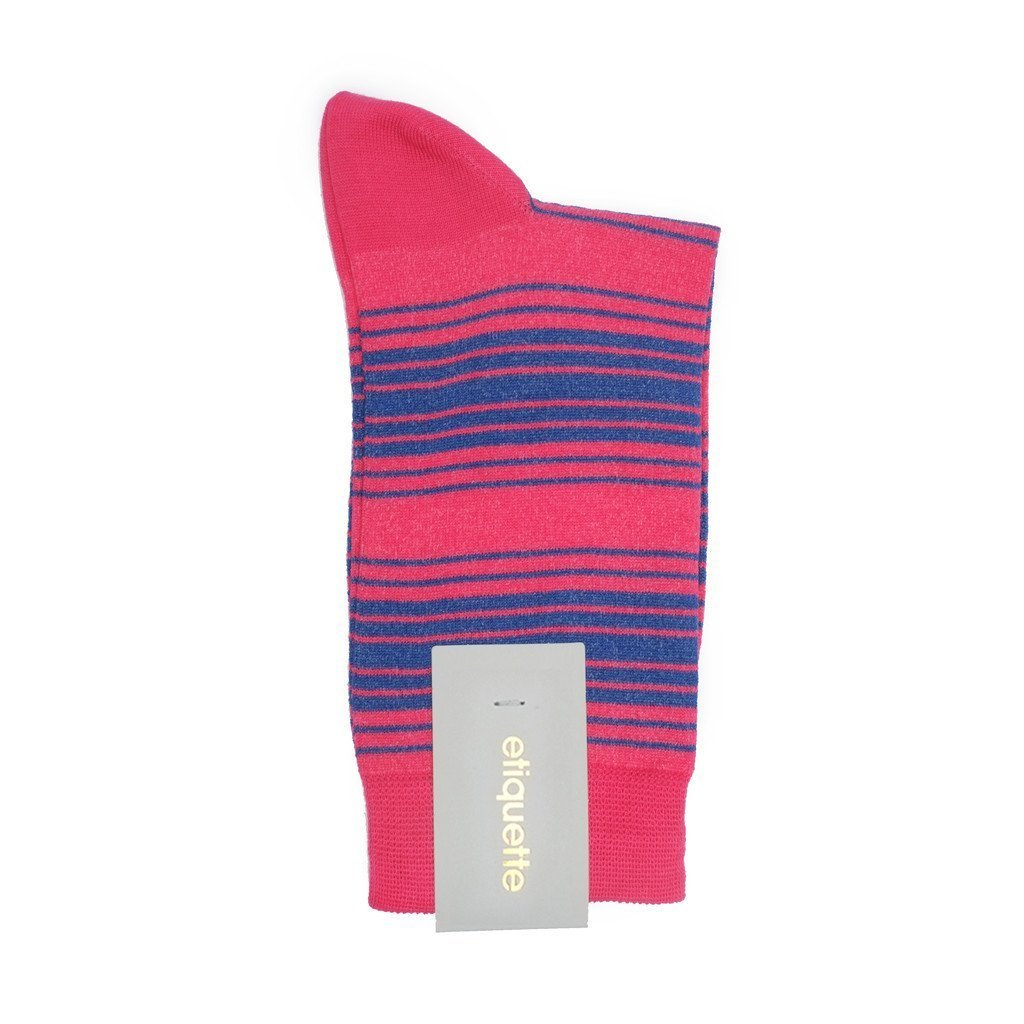 Tokyo Stripes - Pink - Womens Socks | Etiquette Clothiers Global Official