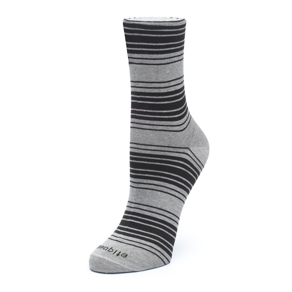 Tokyo Stripes - Grey - Womens Socks | Etiquette Clothiers Global Official