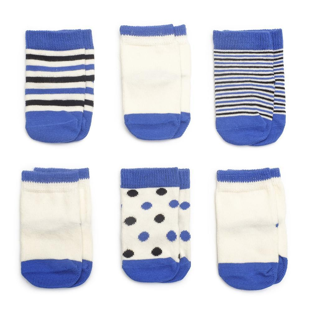 Etiquette x Colette - Cyan Blue and Ecru - Baby Socks | Etiquette Clothiers Global Official