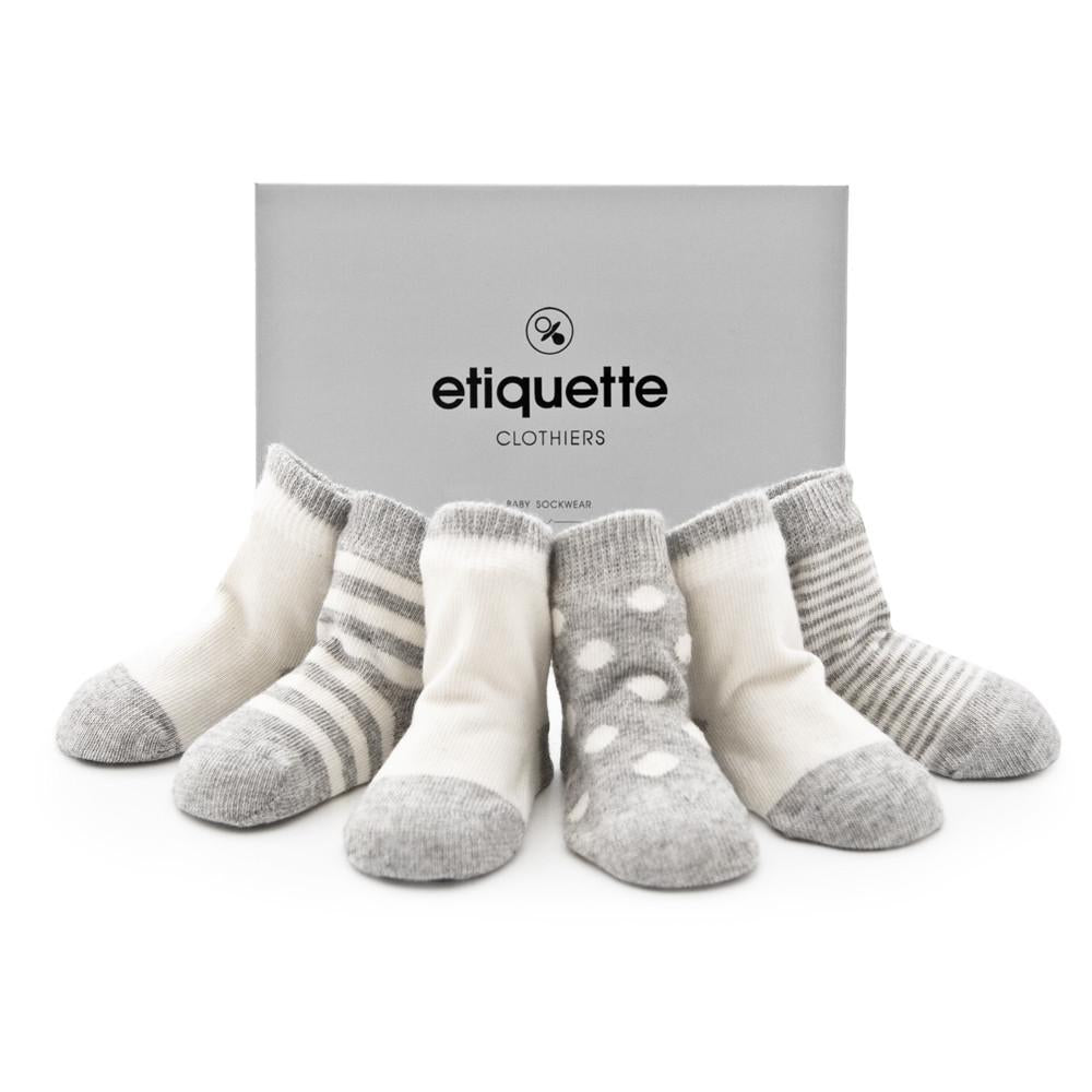 Cashmere - Heather Grey - Baby Socks - Etiquette - global.etiquetteclothiers.com