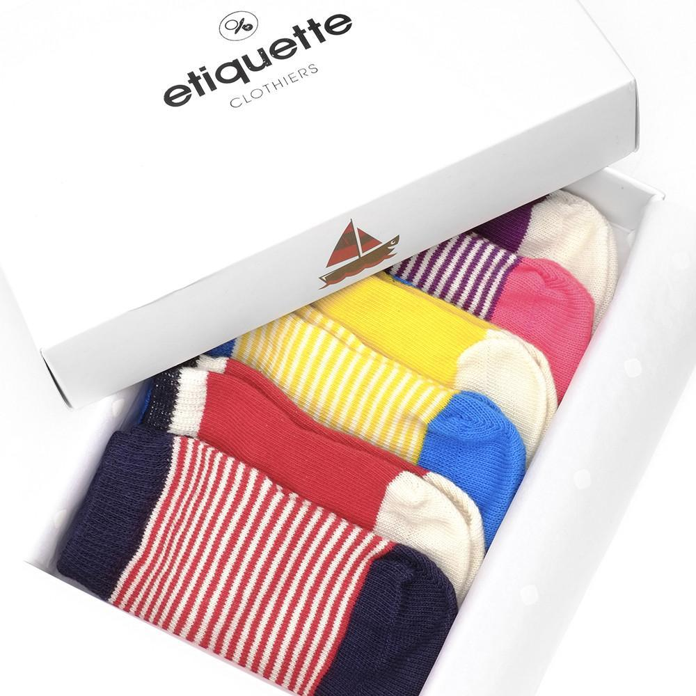 Happy Sailor Girl - Multi - Baby Socks | Etiquette Clothiers Global Official