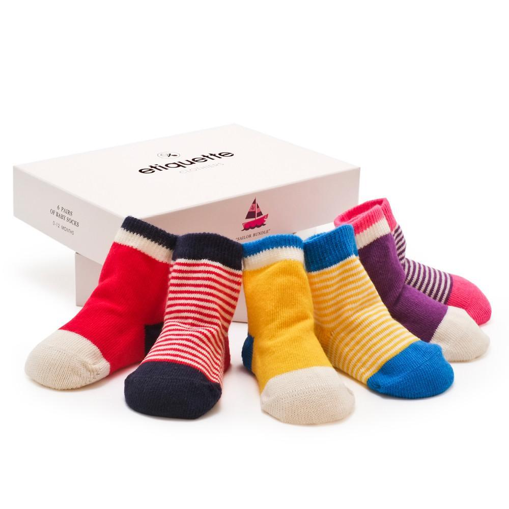 Happy Sailor Girl - Multi - Baby Socks - Etiquette - global.etiquetteclothiers.com