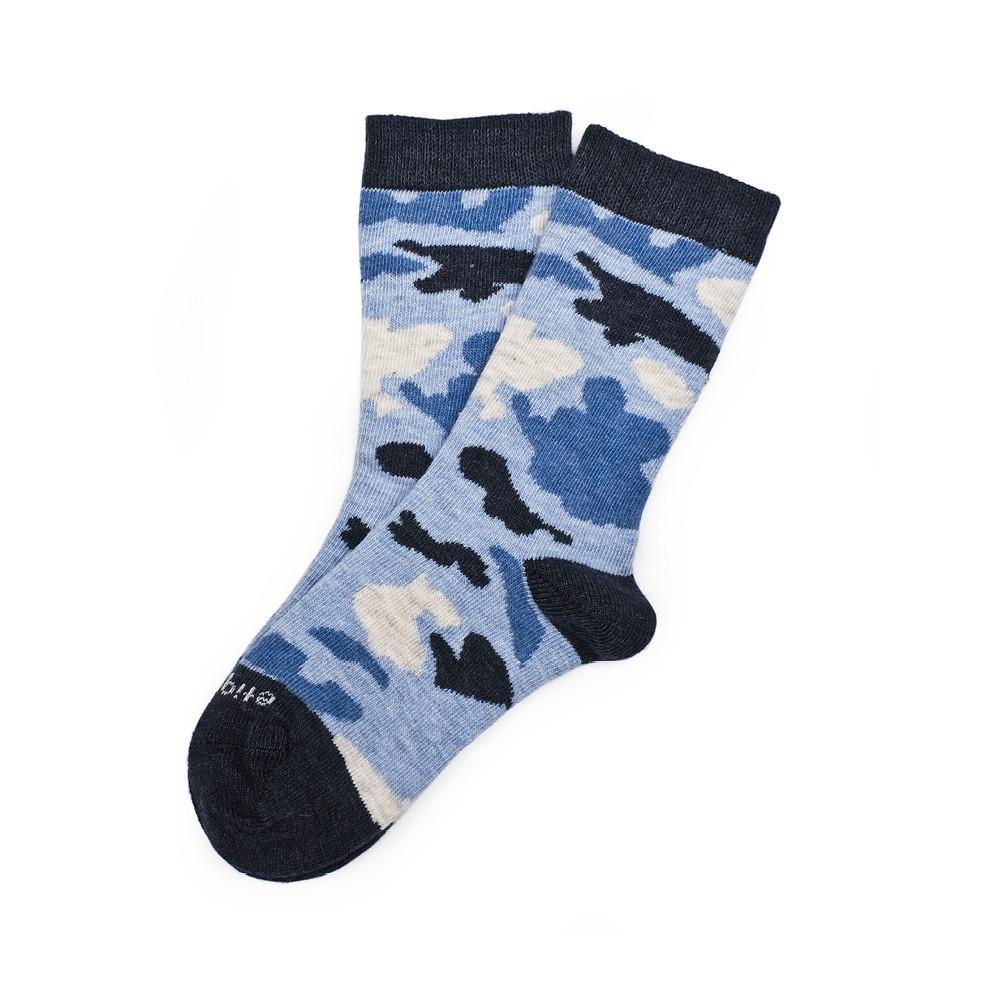 Camouflage - Blue Heather - Kids Socks | Etiquette Clothiers Global Official