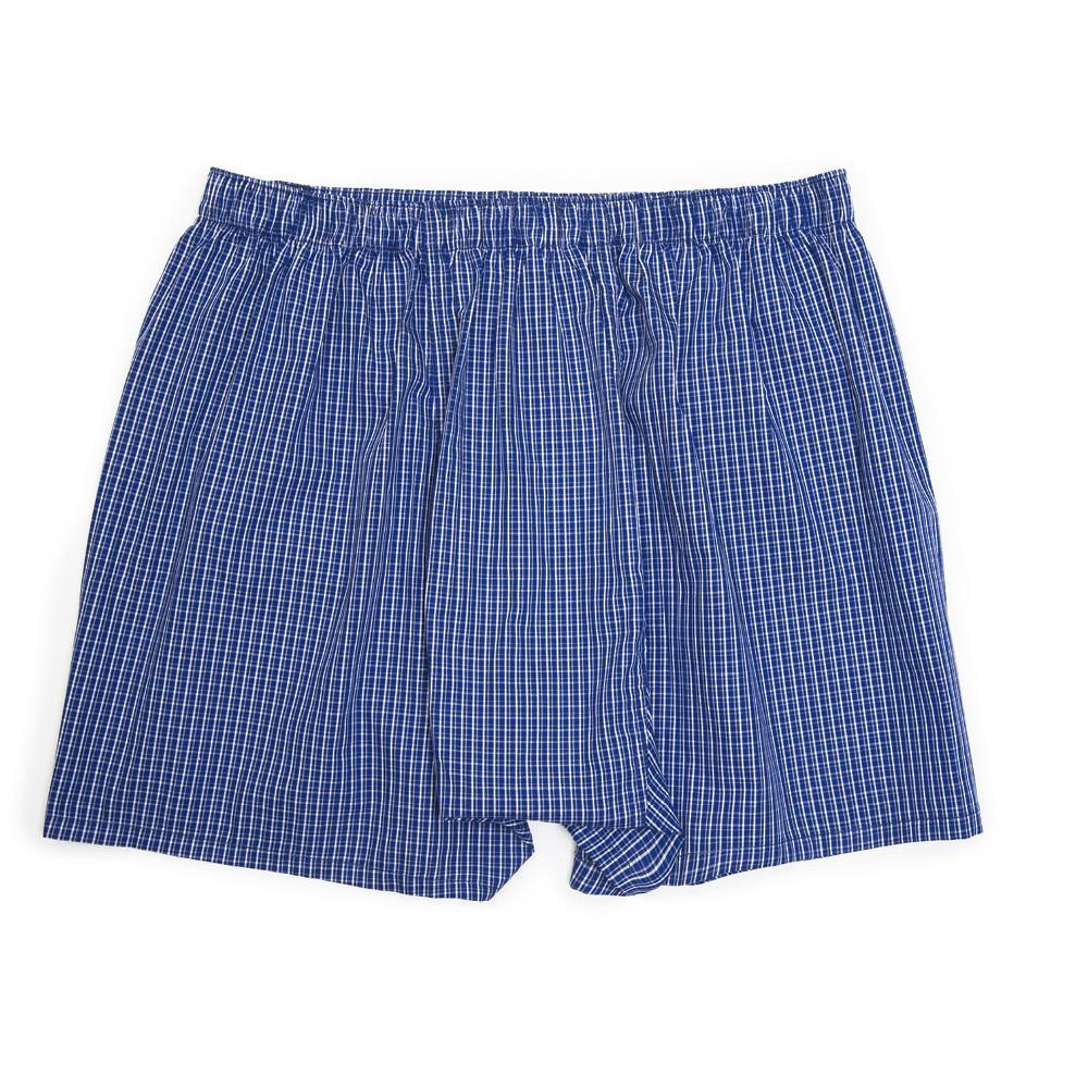 Luxury Boxer Shorts - Mini Check Indigo Dye - Underwear - Etiquette - global.etiquetteclothiers.com